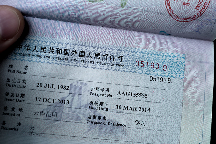 Image of Residence permit in China